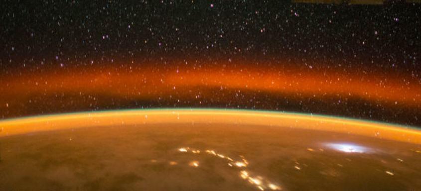 golden sunset on the Earth