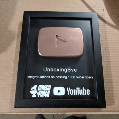1000 Subscriber Play Button