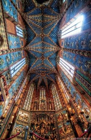 Ceiling over St. Mary's Altar, Krakow , Poland
