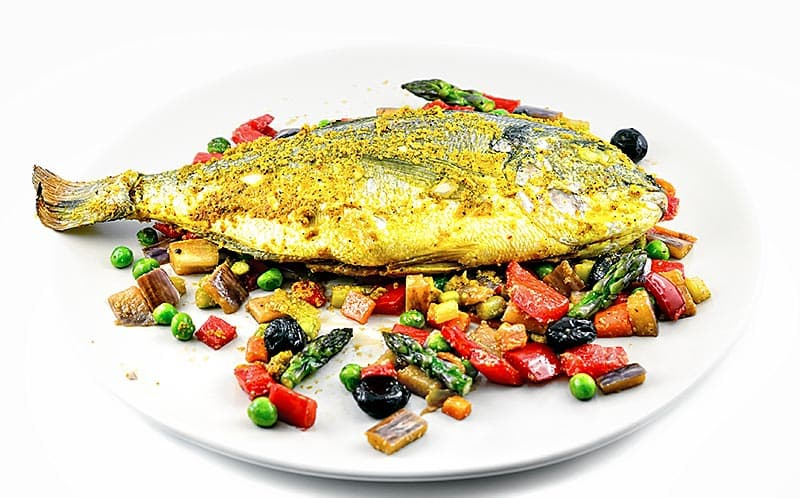 Fish Papillotte with Spices and Spring Vegetables