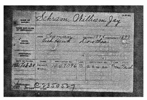 Invalid Certificate for William Schram