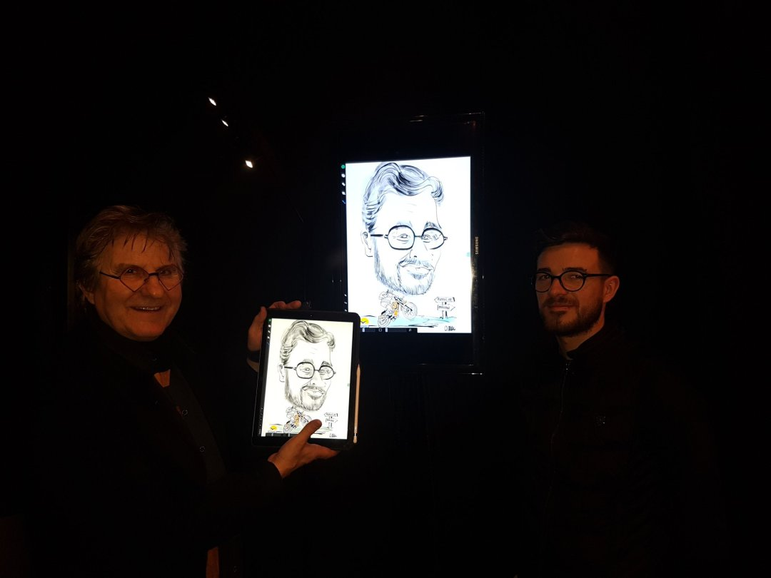 Caricatures au Zénith de Nantes
