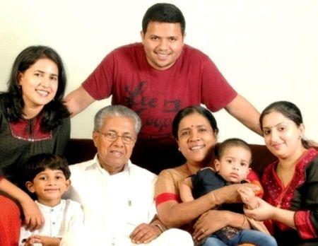 Pinarayi Vijayan Wife Son Daughter Family