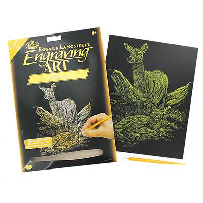 ENGRAVING ART SET DEER GOLD FOIL By ROYAL Amp LANGNICKEL
