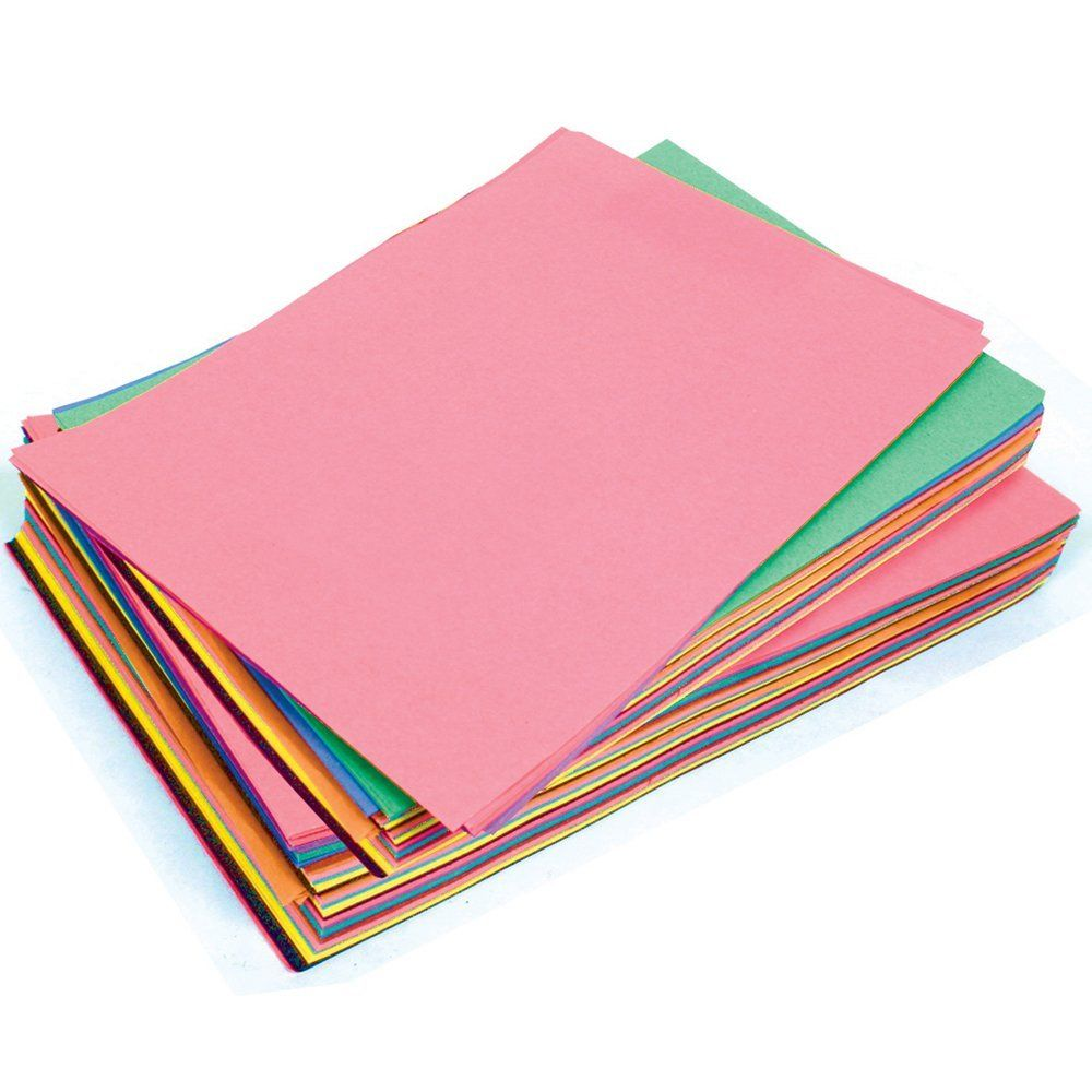 SUGAR PAPER A3 ASSORTED COLOURED PAGES Pack Of 50 Sheets