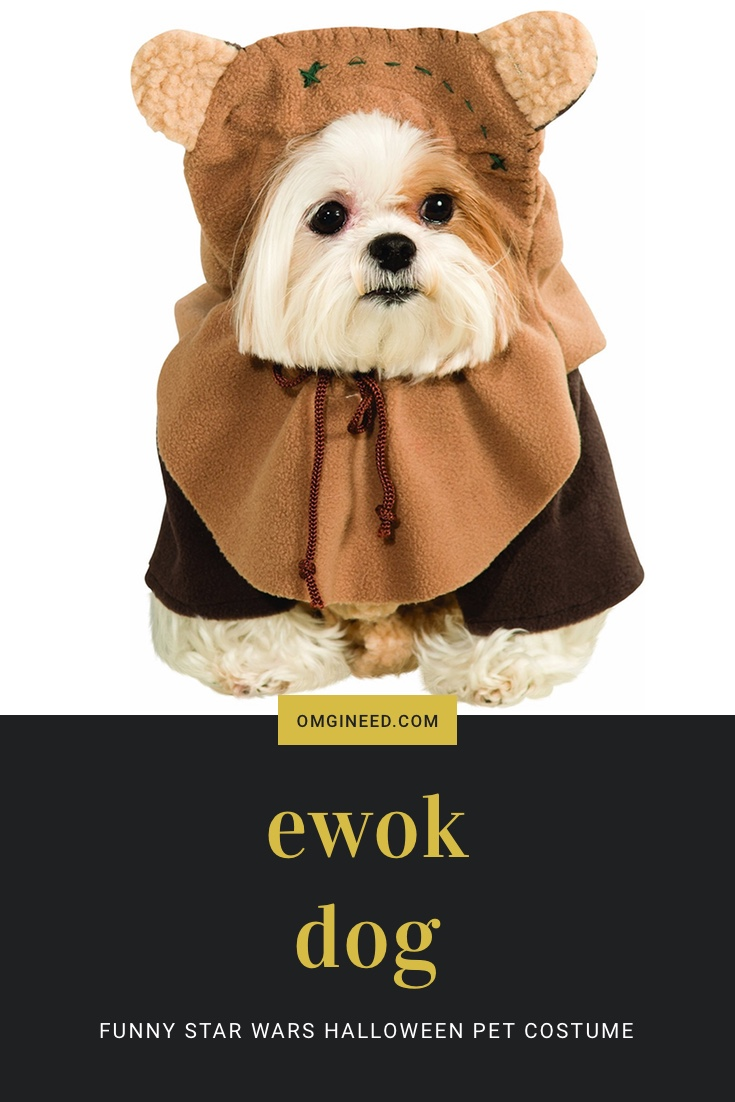 Ewok Dog Funny Star Wars Halloween Pet Costume  sc 1 st  omgineed & Ewok Dog Costume | Funny Star Wars Dog Costume for Halloween