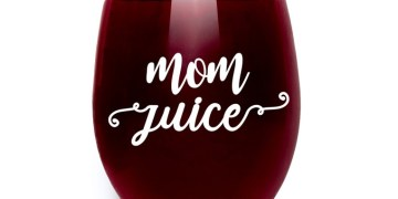 """Mom Juice"" Funny Wine Glass"