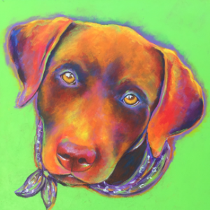 Brown Labrador acrylic Painting