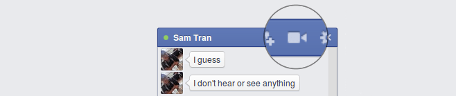 facebook video chat icon