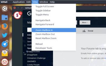 menu de vista Wmail