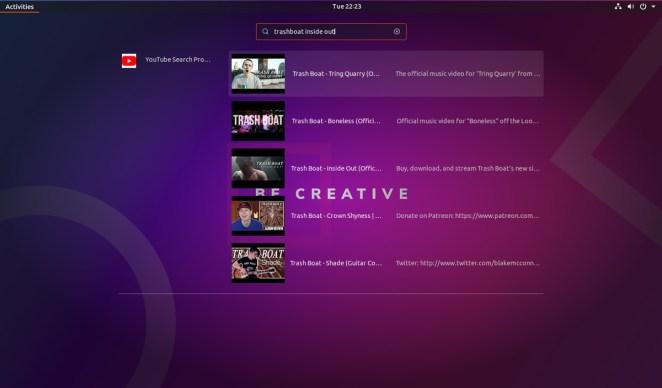 Extensão do Shell do GNOME do YouTube Search Provider