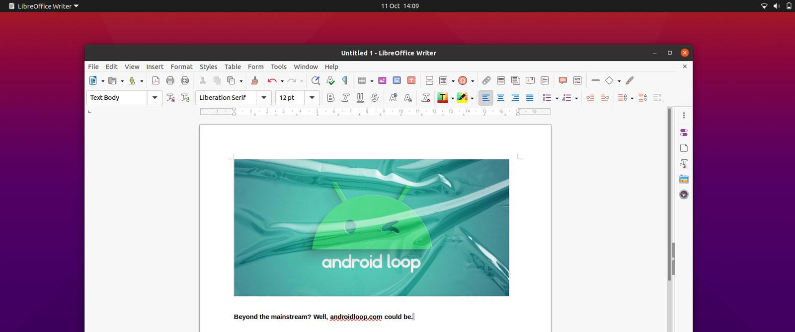 LibreOffice tem nova aparência no Ubuntu 20.10