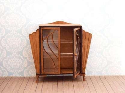 miniature art deco cabinet