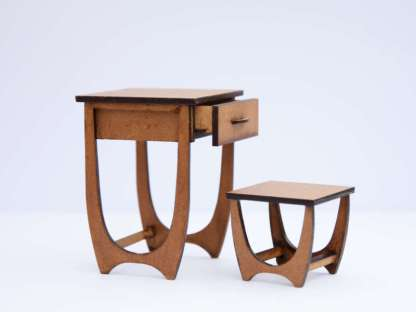 midcentury writing desk with chair