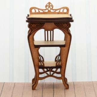 art nouveau miniature telephone table