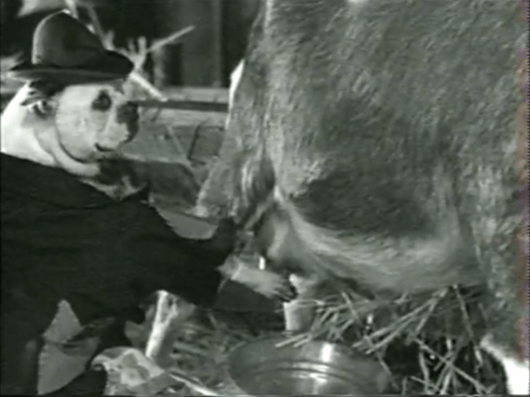 Dog Milking Goat
