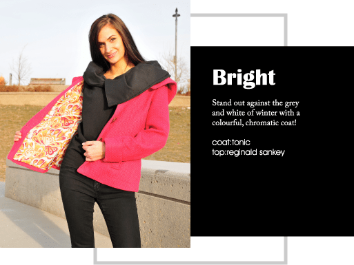 Stand out against the grey and white of winter with a colourful, chromatic coat!