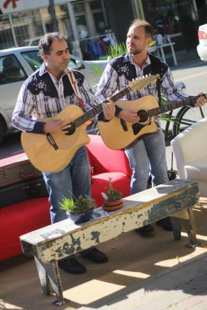 Karpinka Brothers at Saskatoon Park(ing) Day