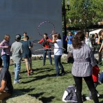 Hula Hooping at Saskatoon Park(ing) Day