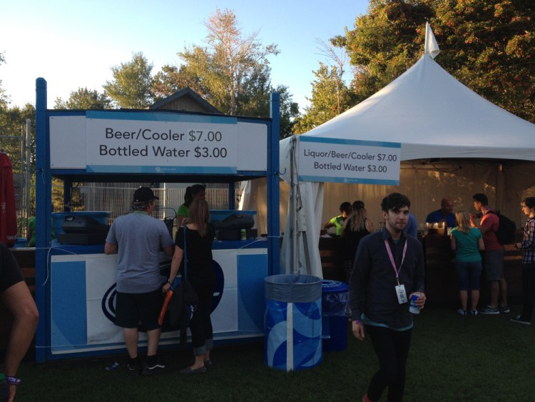 VIP Area at Sonic Boom Festival
