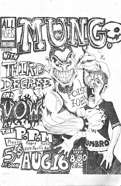 mung, third degree, visions of war at the p.p.m. 1995 (VOW WERE REPLACED BY SOCIAL DECAY'S FIRST PERFORMANCE)