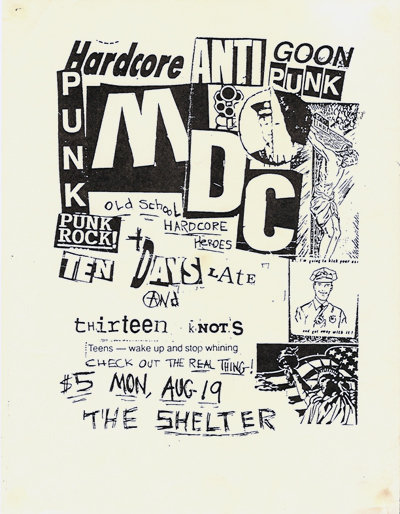 thirteen knots, m.d.c. at the Shelter 1997
