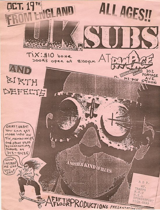 uk subs at rampage