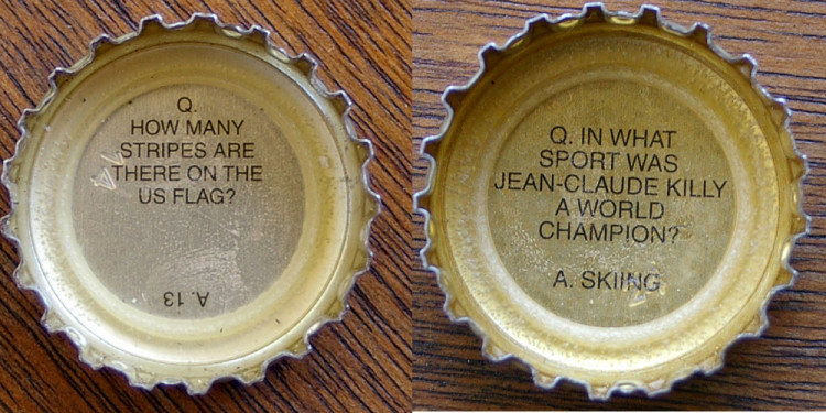 Trivia bottle cap 2