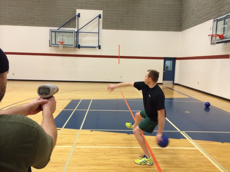 How fast can you throw a dodgeball?