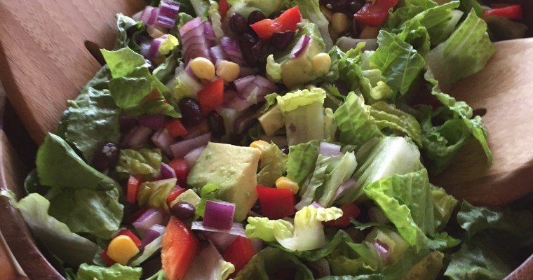 Summertime Southwest Salad with Vegan Creamy Cilantro Lime Dressing