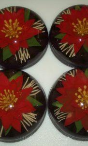 Poinsettia Jelly Soap