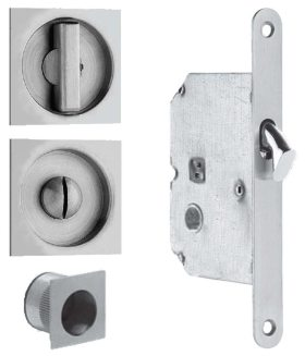 Item No.3911 (Sliding Pocket Door Mortise Lock - Solid Stainless Steel)