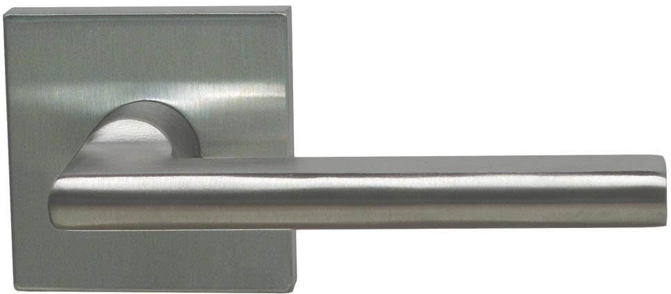 Item No. 43S (Interior Modern Lever Latchset with Square Rose - Stainless Steel)