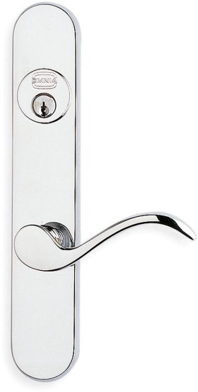 65895 Modern Narrow Backset Lever Lockset - Solid Brass