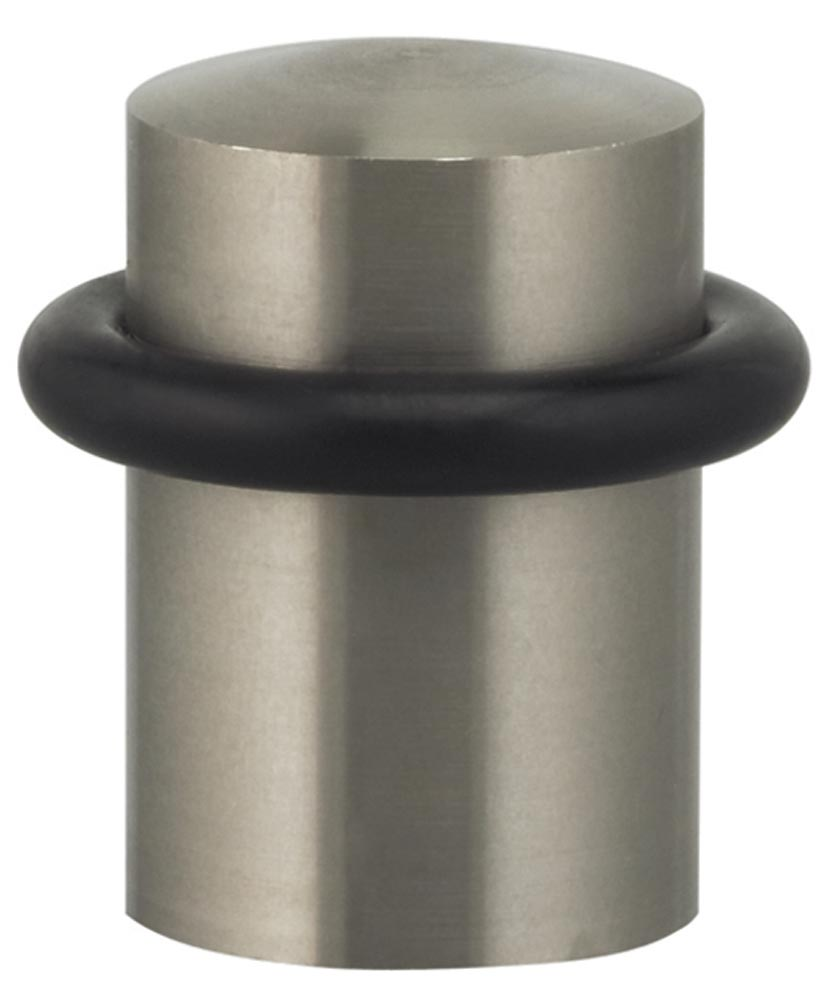 Item No.7000 (Modern Floor Door Stop - Solid Brass or Solid Stainless Steel) in finish US32D (Satin Stainless Steel)