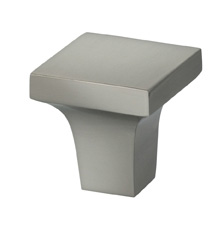 Item No.9004 (Modern Cabinet Knob - Solid Brass) in finish US15 (Satin Nickel Plated, Lacquered)