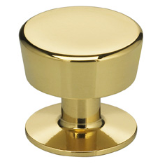 Item No.9151 (Modern Cabinet Knob - Solid Brass) in finish US3 (Polished Brass, Lacquered)