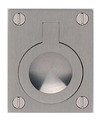 Item No.9587/60 (Rectangular Drop Ring - Solid Brass) in finish US15 (Satin Nickel Plated, Lacquered)