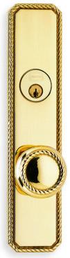Item No.D24441 (Exterior Traditional Deadbolt Entrance Knob Lockset - Solid Brass )
