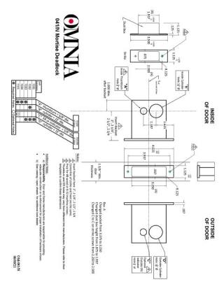 OMNIA 041 Mortise Deadlock Installation Template