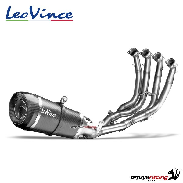 leovince full exhaust system factory s carbon racing for yamaha r6 2006 2020