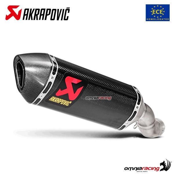 akrapovic exhaust approved carbon fibre for kawasaki zx10r ninja 2016