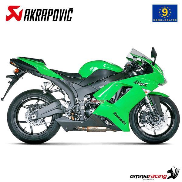 akrapovic exhaust approved titanium for kawasaki zx6r ninja 2007 2008