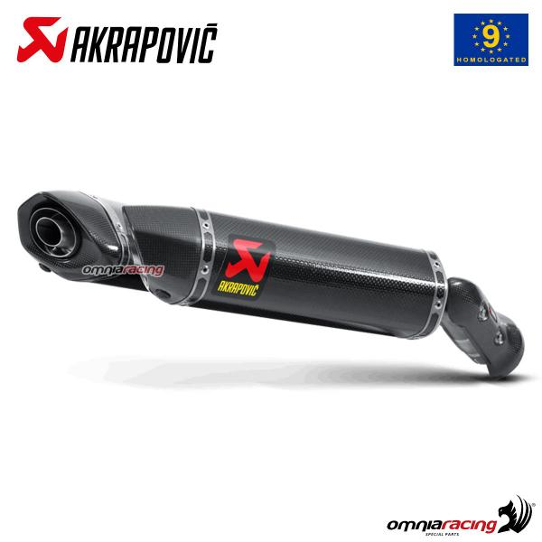 akrapovic pair of exhaust approved carbon fibre for yamaha yzf r1 2009 2014