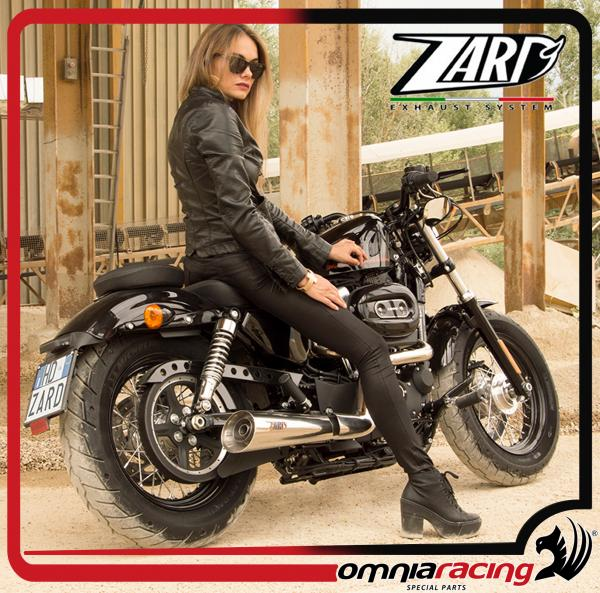 zard joker polished racing for harley davidson sportster 883 1200 03 13 full exhaust system
