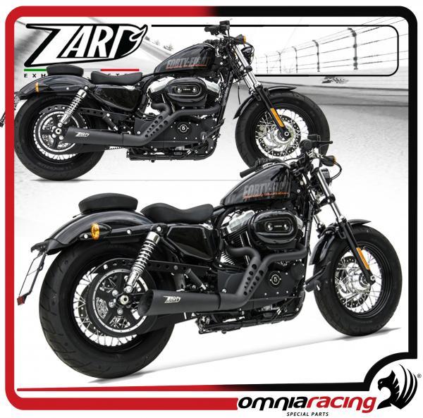 zard joker black homologated for harley davidson sportster 883 1200 03 13 full exhaust system
