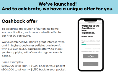Cashback launch offer