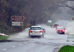 Heavy rain and floods in North Wales - from the Daily Post