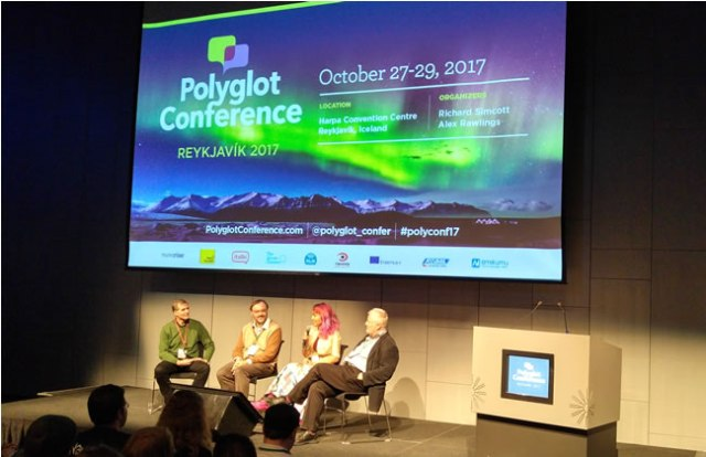 A panel discussuion at the 2017 Polyglot Conference in Reykjavik
