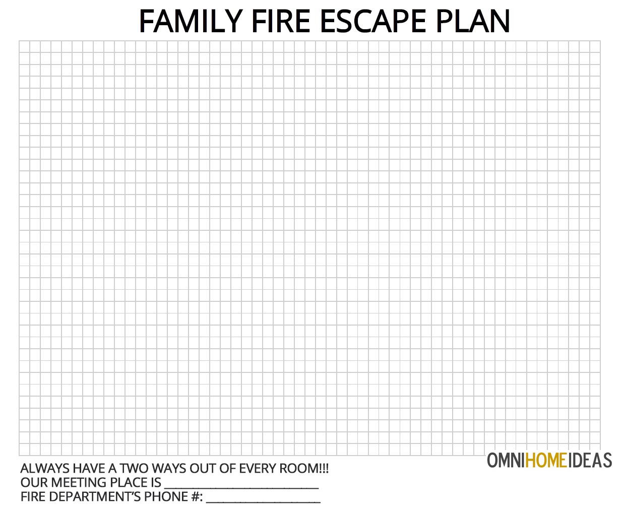How To Make A Fire Escape Plan For Home With Printable